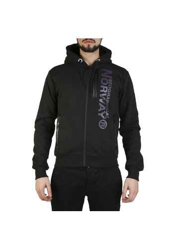Geographical Norway Gilet homme noir avec logo