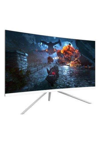 """Denver Electronics Moniteur d'ordinateur incurvé pour jeux Full HD 27 """", blanc"""