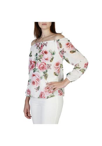 Fontana 2.0 Dames shirt wit met bloemen