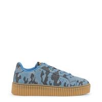 Dames schoen camouflage print blauw