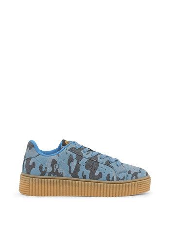 Xti Damenschuh-Camouflage-Print blau