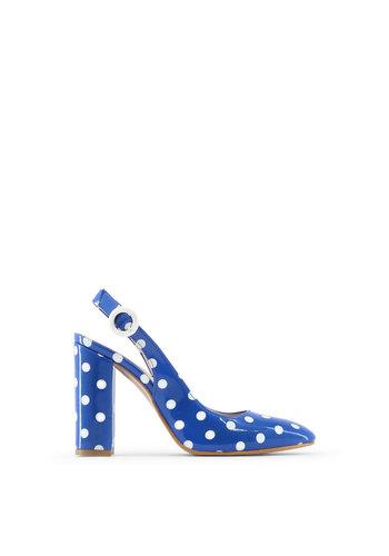Made in Italia Mesdames pompe bleu à pois blancs