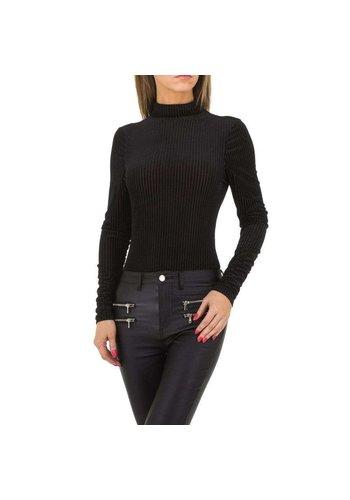 JCL Dames strakke blouse van JCL - zwart
