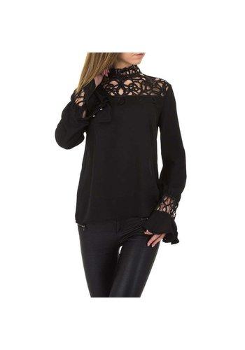 Neckermann Damenhemd - schwarz