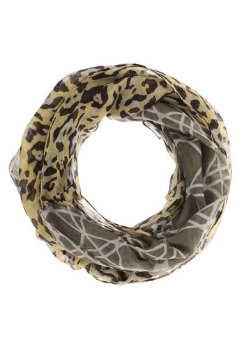 Neckermann Dames sjaal Gr. een maat - groen gewerkt