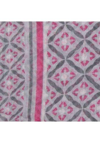 Neckermann Dames sjaal Gr. een maat - roze gewerkt