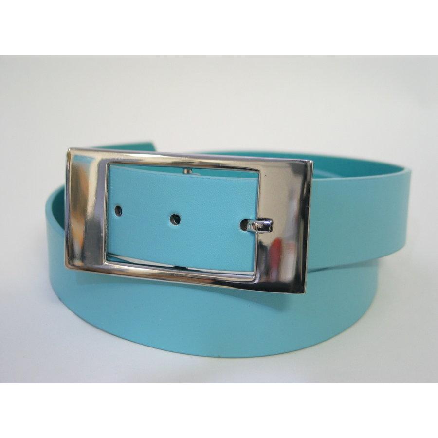 Gürtel hellblau mit Designschnalle