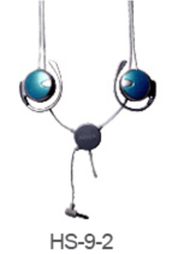 A4 Necklace MP3 InMotion Headset, blue color