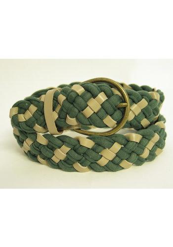 ceinture tressée vert écru