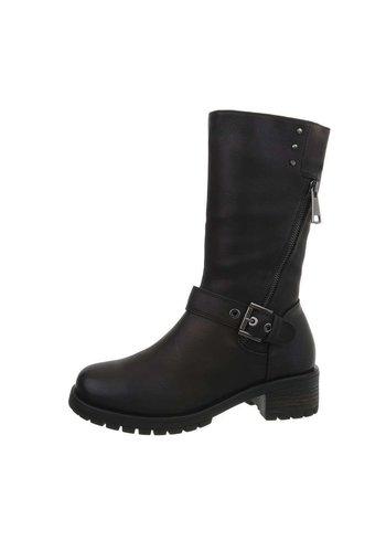 Neckermann Dameslaarzen zwart met gesp