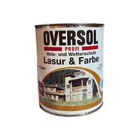 Holz- und Wetterschutzglasur und Farbe - beige braun - 1 Liter