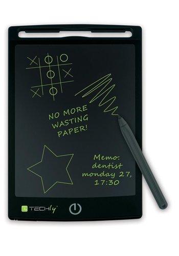 Techly Tablette bloc-notes numérique portable pour écrire et dessiner 8,5 '' noir