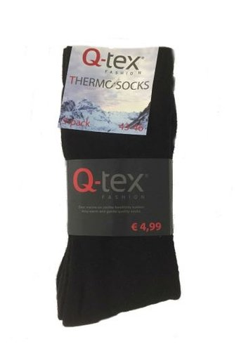 Q-tex Thermosocks - pack de 3 - noir