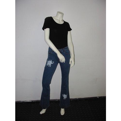 Lineatabs Jeans flair Model met Olifanten opdruk