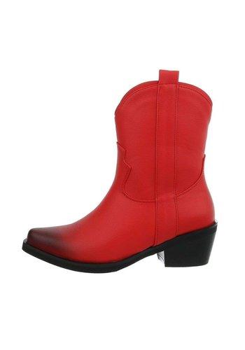 Neckermann Dames bikerschoenen rood