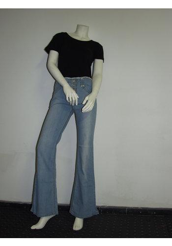 E.A.Jeans Dames jeans met knopen gulp