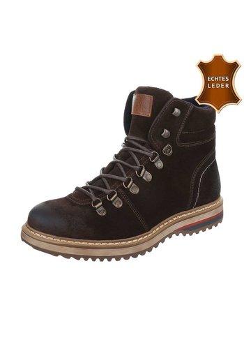 Neckermann Chaussures en cuir pour hommes marron