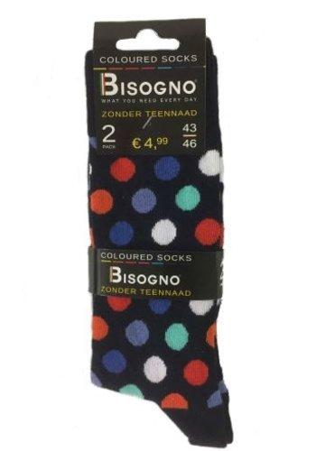 Bisogno Chaussettes pour hommes - ananas - 2 paires - Copy