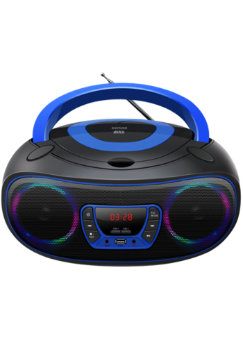 Denver Electronics Boombox met Bluetooth Blauw