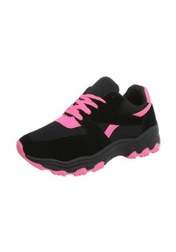 Neckermann Chaussures de sport pour femme noir / rose