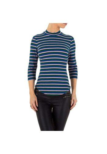 Neckermann Damenhemd blau gestreift