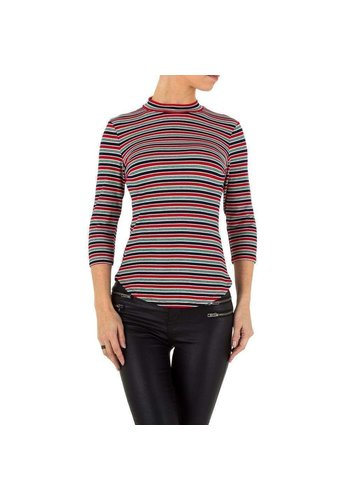 Neckermann Dames shirt rood gestreept