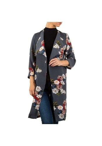 Neckermann Damenjacke grau mit Blumenmuster