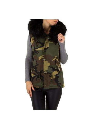 NOEMI KENT Dames bodywarmer met bont - camouflage