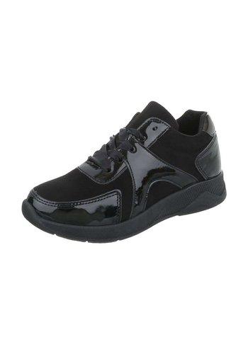Neckermann Chaussures de sport pour femmes noires semi brillantes