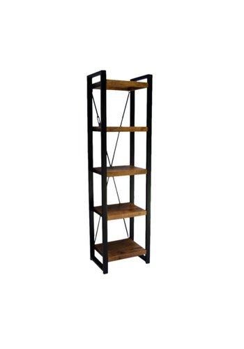 Neckermann Bibliothèque - bois de manguier - 200x40x55 cm