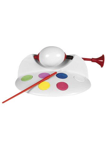 Neckermann Eiermalerei mit Farbe und Pinsel
