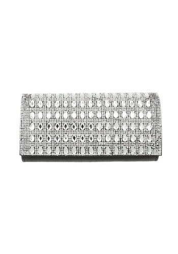 Neckermann Damen Abendtasche-silverblack