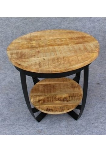 Neckermann Table d'appoint - bois de manguier - 60x60x55 cm