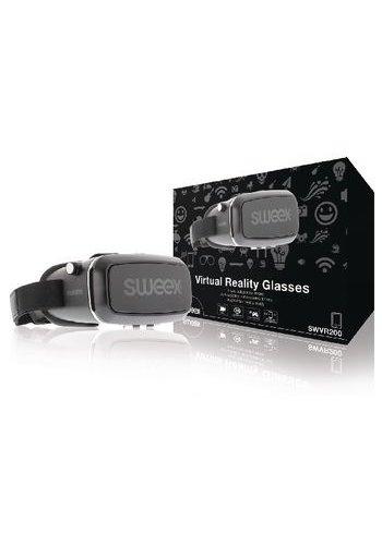 Sweex Virtual-Reality-Brille Schwarz / Silber
