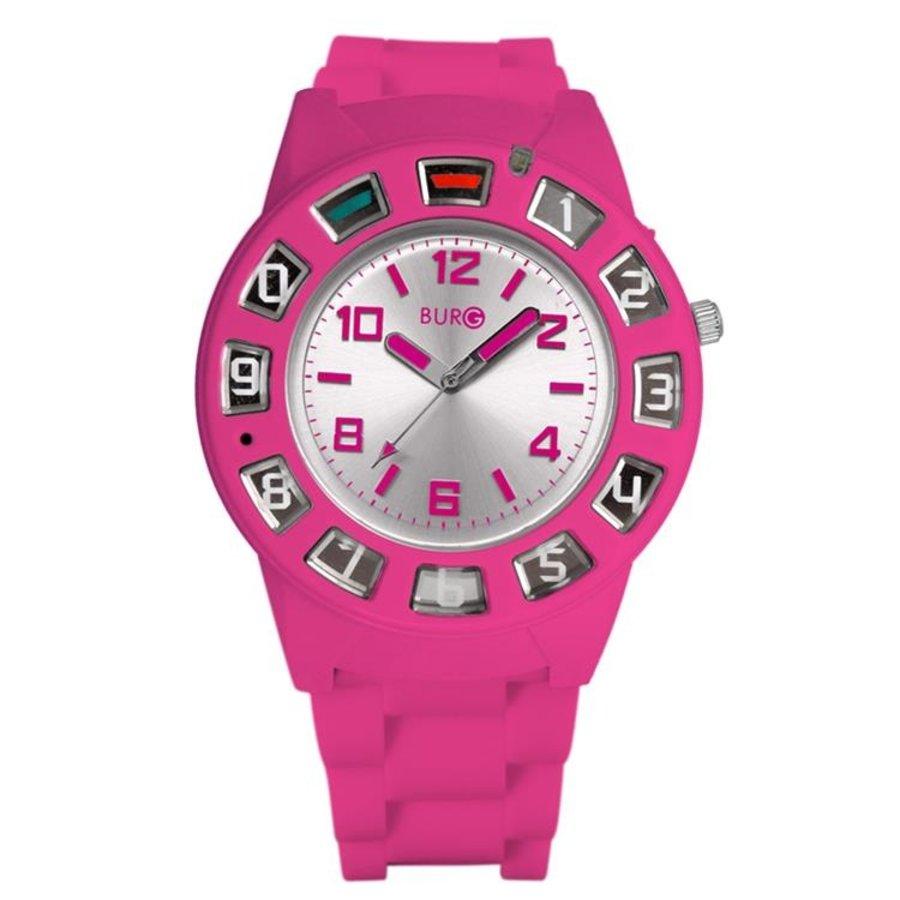 Telefonuhr - pink