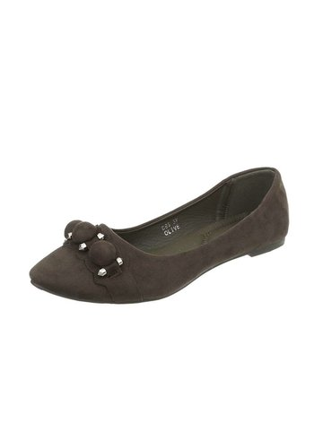 Neckermann Damen Ballerinas - olive