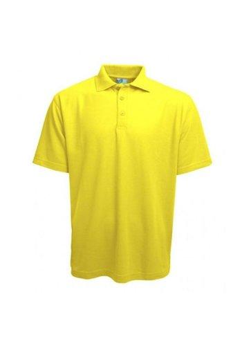 Gildan Polo Damen Kurzarm Fluor Gelb