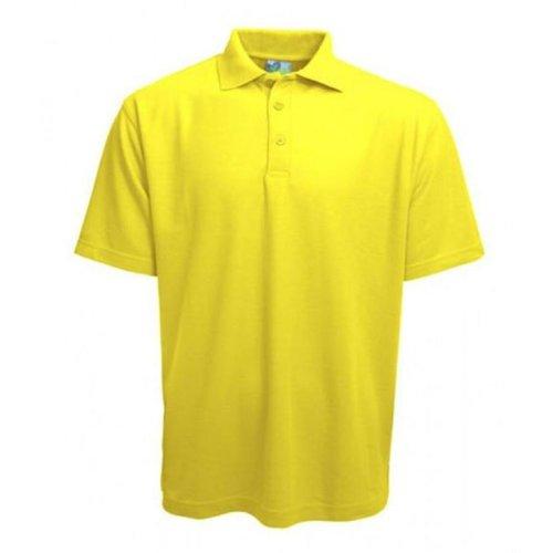 Gildan Polo femme manches courtes fluor jaune