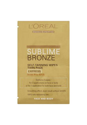 L'Oréal Paris Zelfbruinende doekjes - sublime bronze - 2 stuks