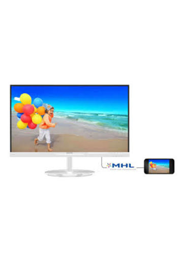 "Philips Moniteur couleur 23 ""blanc"