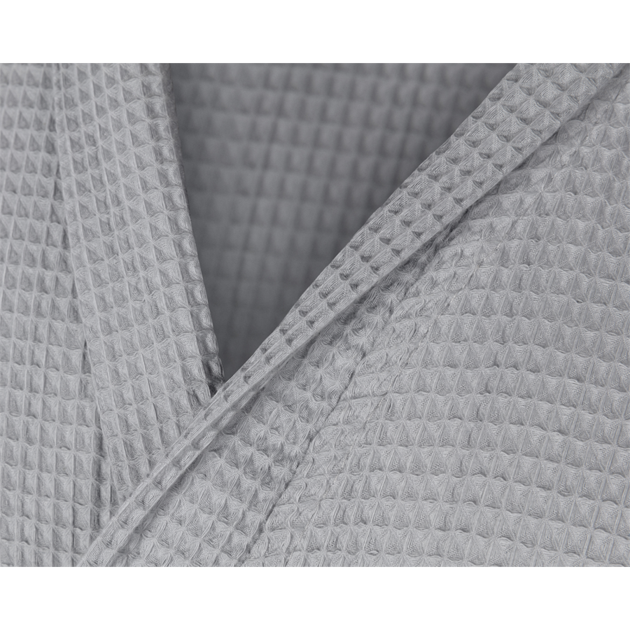 Badjassen wafel grijs