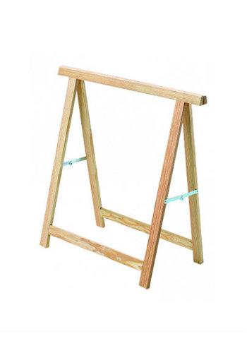 Practo Tréteau en bois - 75x75 cm