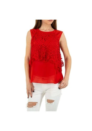 MC LORENE Dames blouse MC Lorene - red