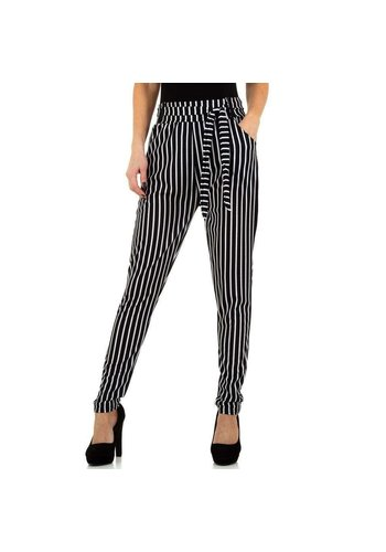 HOLALA pantalon pour femme noir / blanc KL-BFLG18323