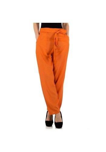 HOLALA pantalon pour femme orange KL-F-21