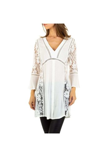 SHK PARIS dames lange blouse wit KL-H257