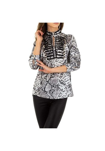 SHK PARIS dames blouse grijs KL-H227
