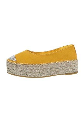 Neckermann dames espadrilles geel 2769-1