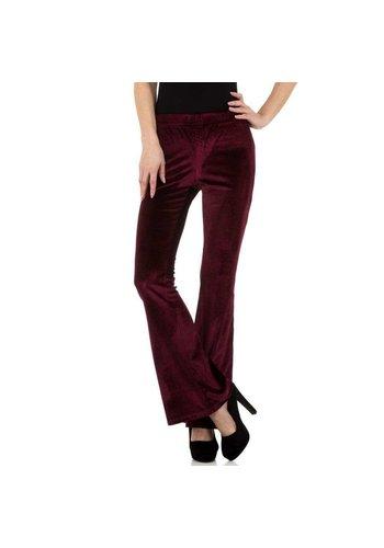 JCL Pantalon femme bordeaux KL-83305A