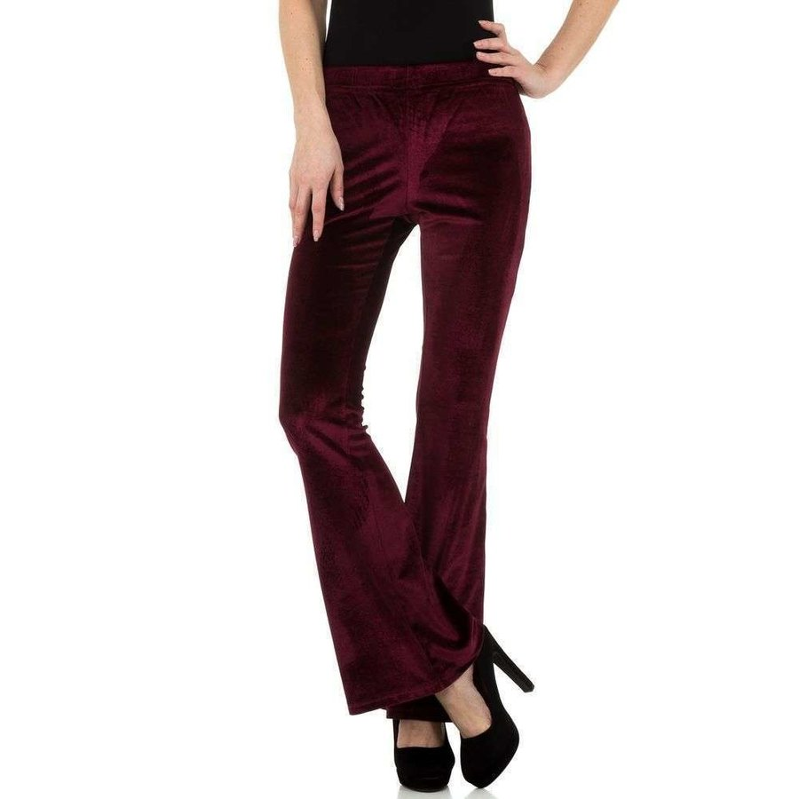 Pantalon femme bordeaux KL-83305A